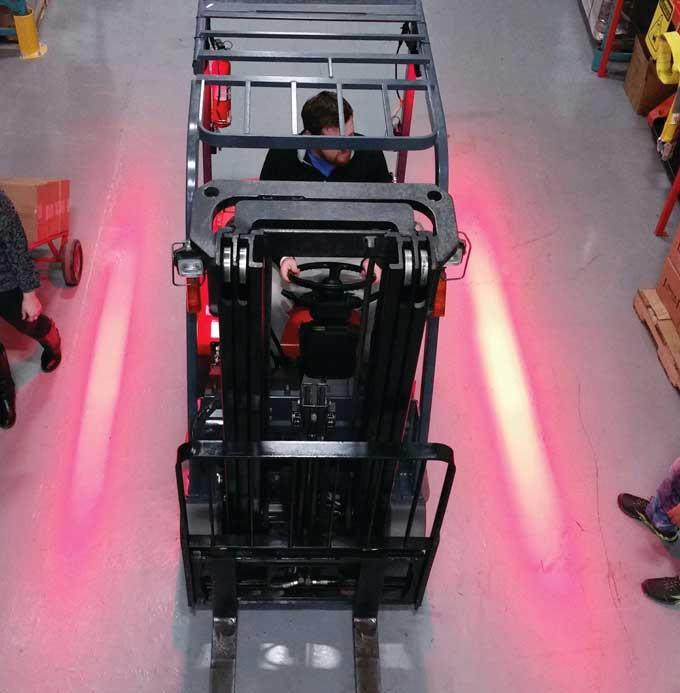 Forklift warning light